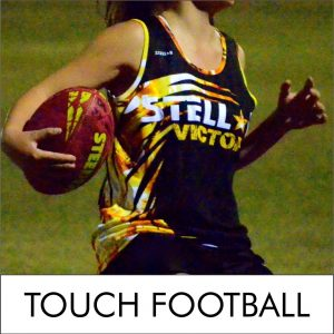 Custom Designed Touch Football Singlet