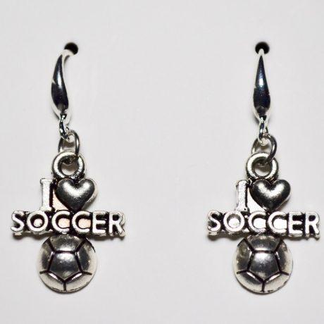 Stellar I Love Soccer Earrings