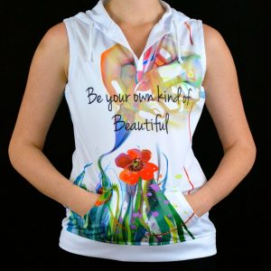 Stellar Sleeveless Hoodie Be Your Own Kind Of Beautiful