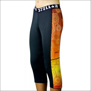 Stellar Compression Activewear Tights - Aboriginal Dreamtime