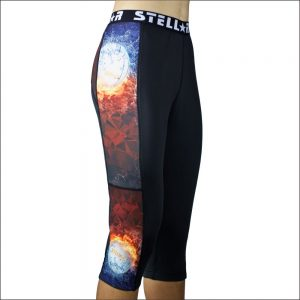 Stellar Compression Activewear Tights - Netball Flames